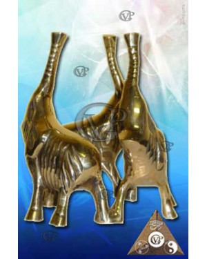 SOCLE ELEPHANT EN LAITON (SOC002)